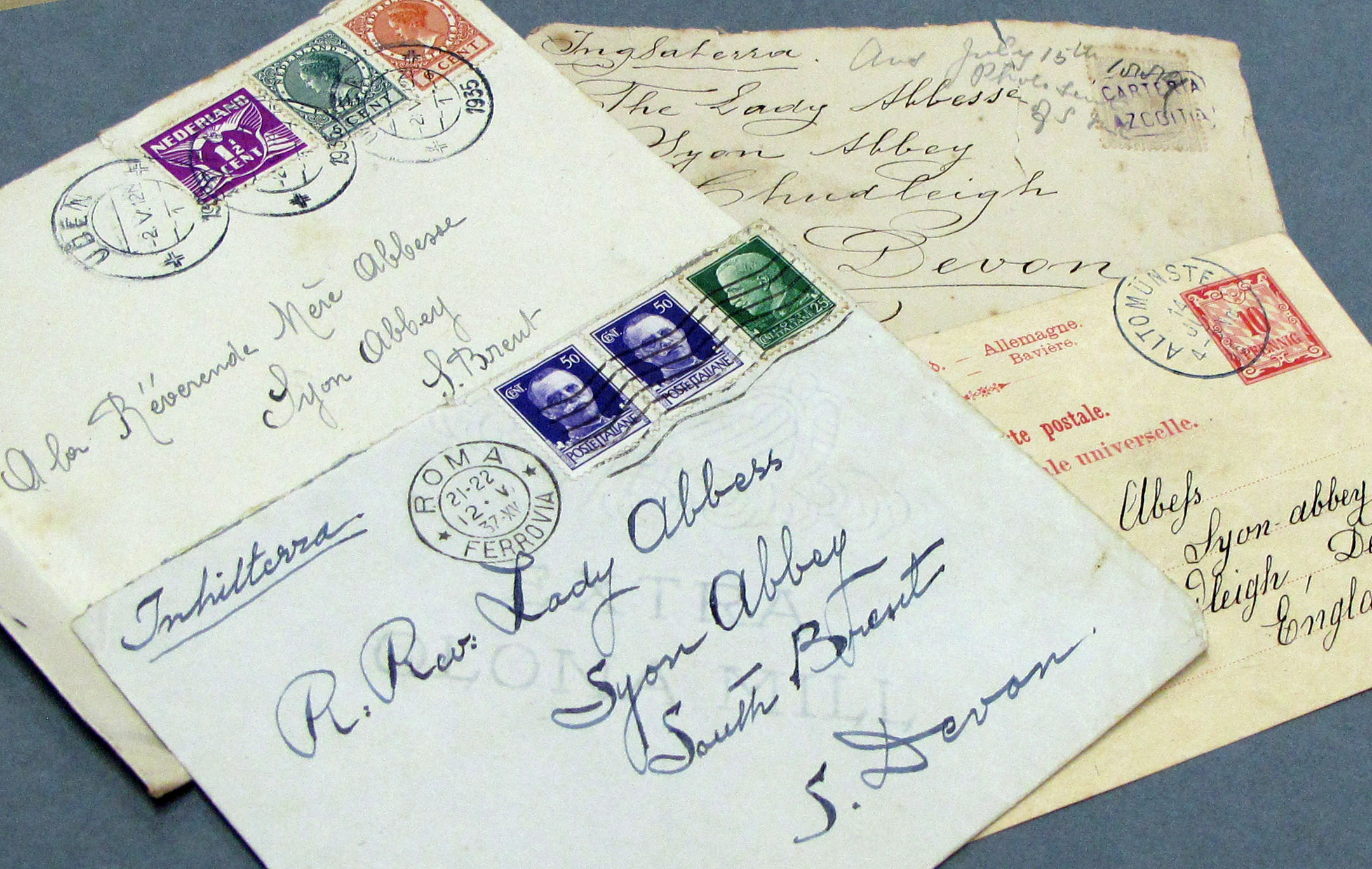Correspondence from other Bridgettine communities around the world (ref: EUL MS 389/HOU/1)