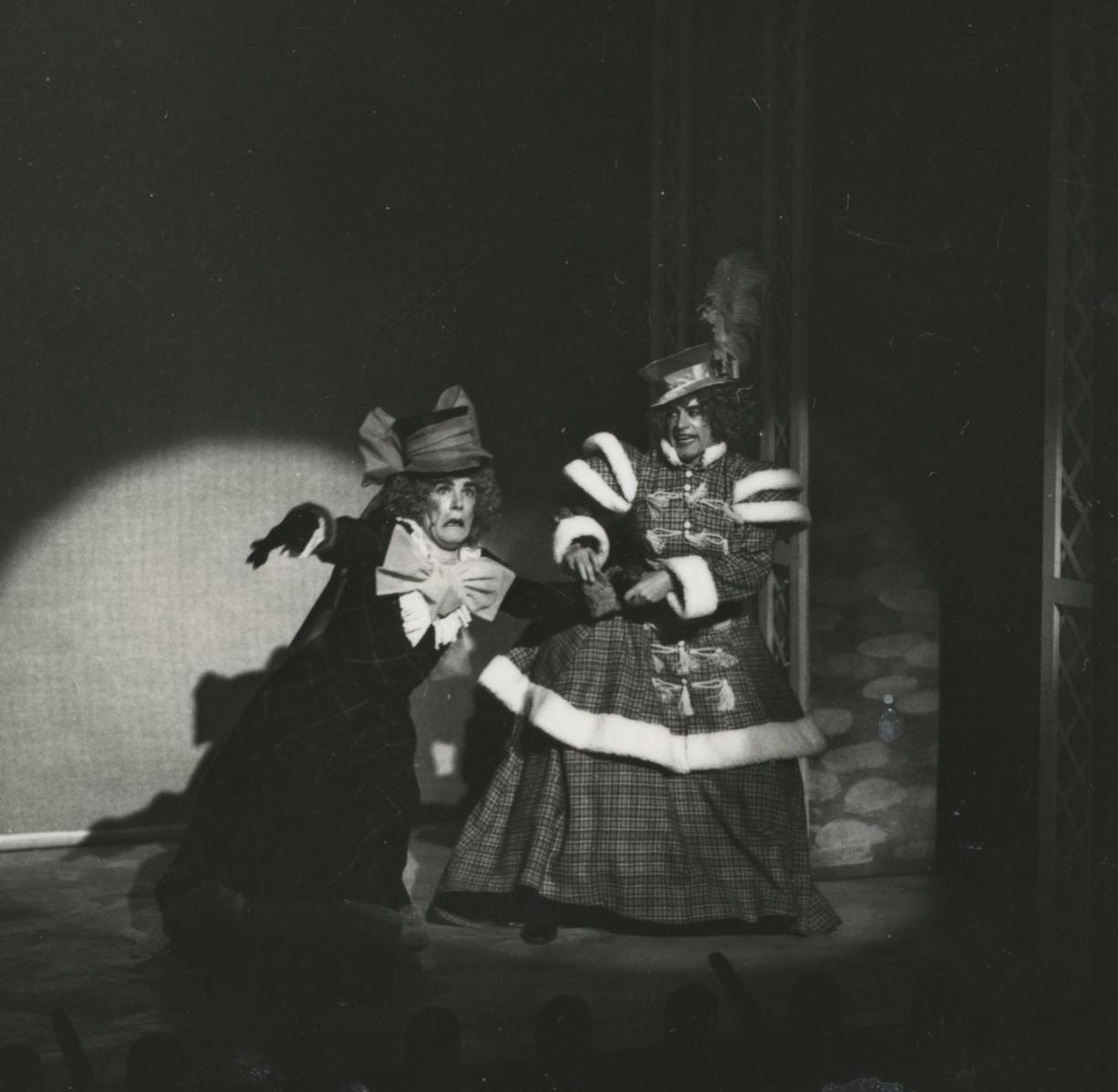 EUL MS 348 - The ugly sisters in Cinderella (1978) ©Nicholas Toyne