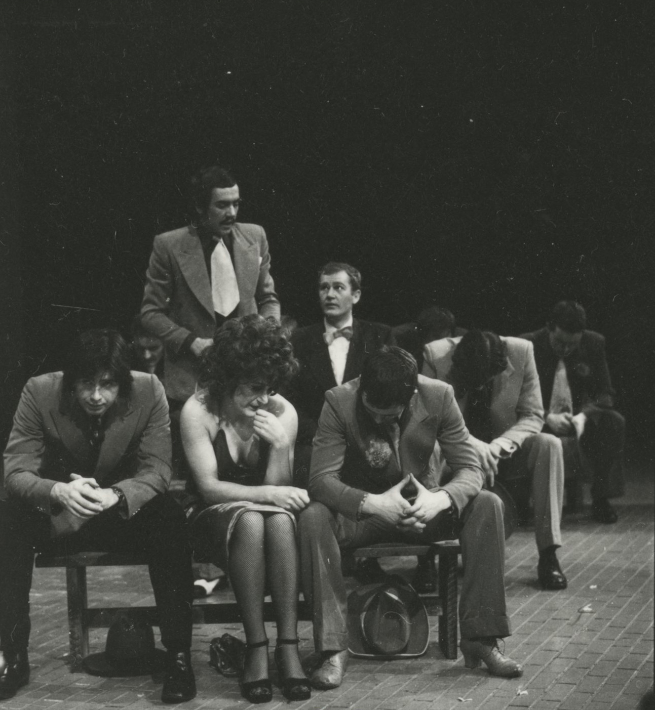 EUL MS 348 - Robert Lindsay as Benny Southstreet, testifying at the mission meeting in Guys and Dolls (1971) ©Nicholas Toyne