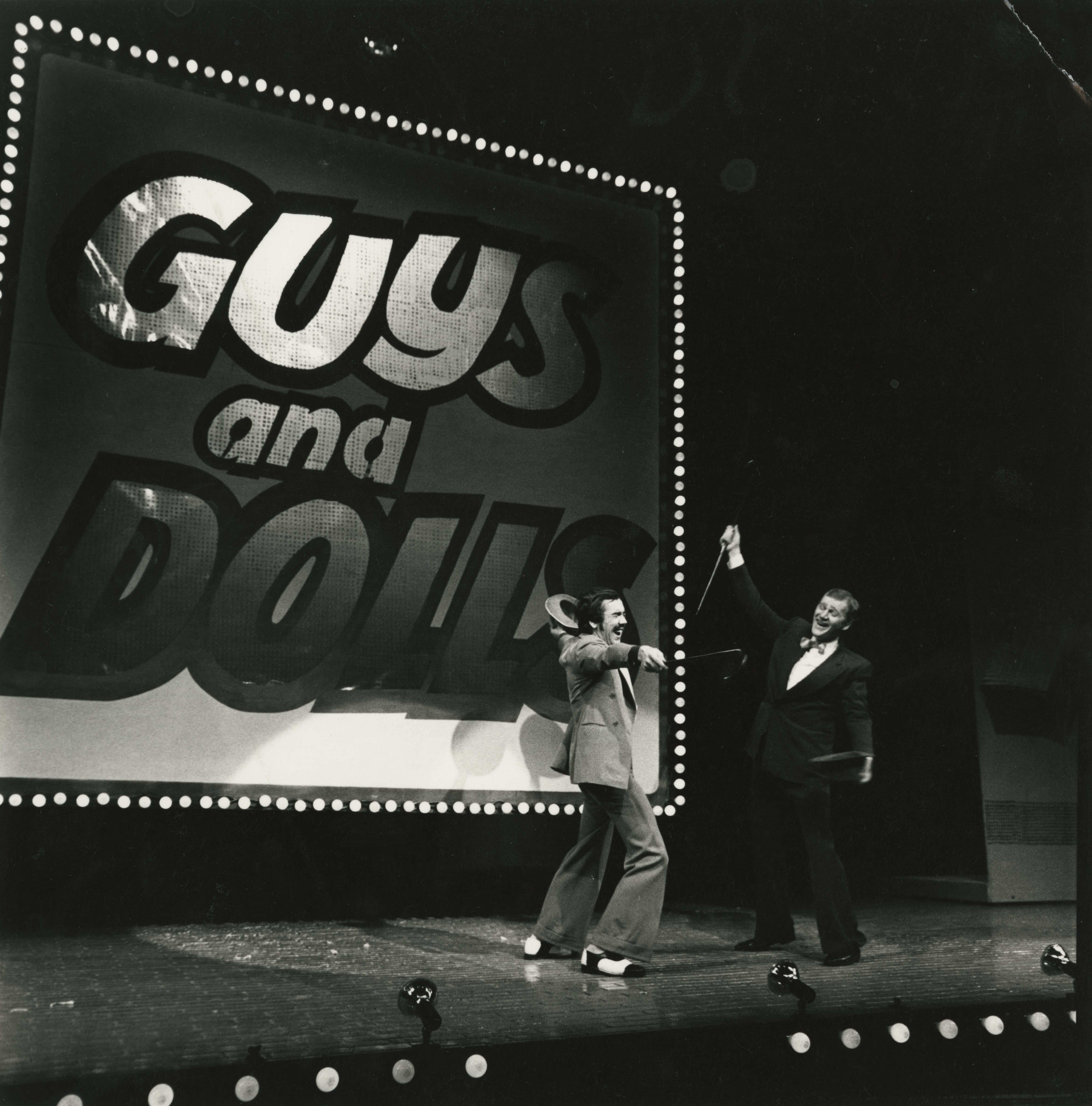 EUL MS 348 - Robert Lindsay as Benny Southstreet with another gangster in Guys and Dolls (1971) ©Nicholas Toyne