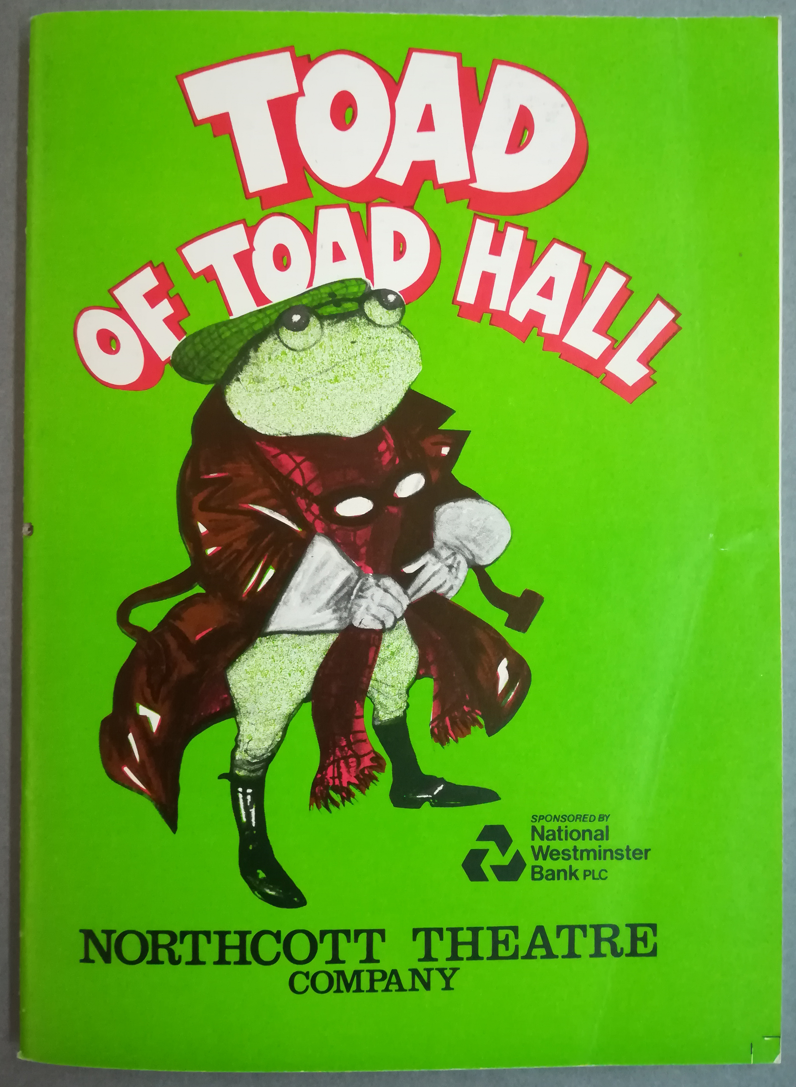 EUL MS 348 - Programme for Toad of Toad Hall (1984)
