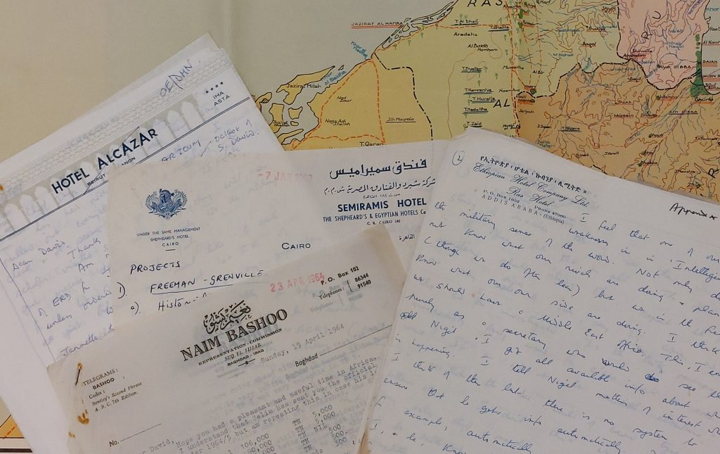 Letters and map